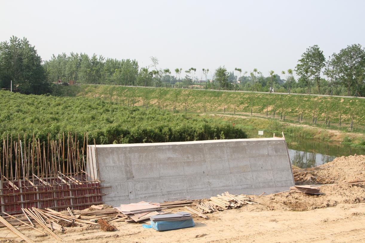 合肥路桥环巢湖大道连接线工程已完成全部涵闸施工